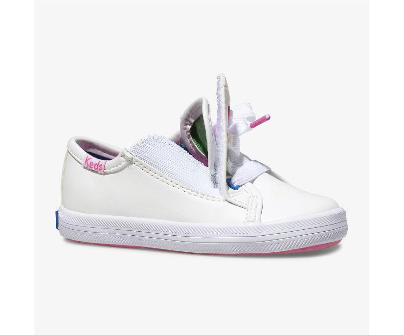 Kickstart Multi-color Eyelets Sneaker Jr., White, dynamic