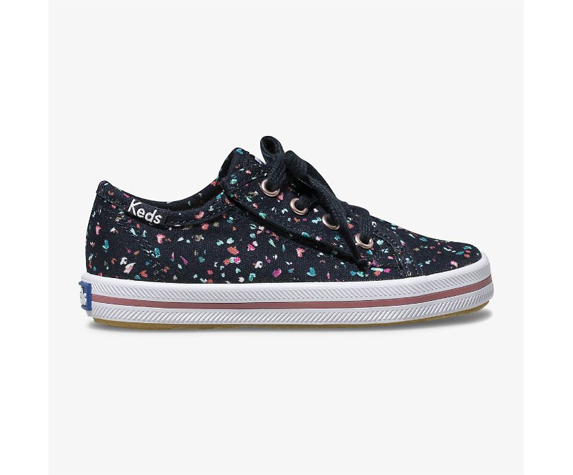 Kickstart Sneaker Jr., Navy Terrazzo, dynamic