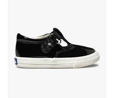 Daphne Patent Sneaker, Black, dynamic