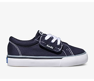 Jump Kick Jr. Canvas, Navy, dynamic