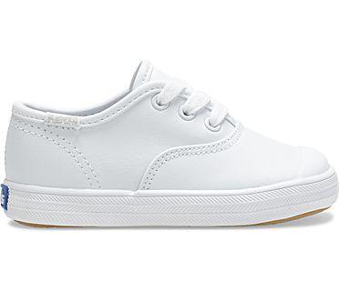 Champion Toe Cap Sneaker, White Leather, dynamic