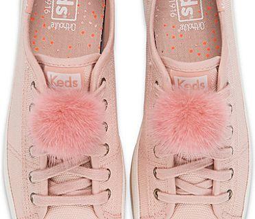 Pair Of Fur Pom Pom Clips (GWP), Pink, dynamic