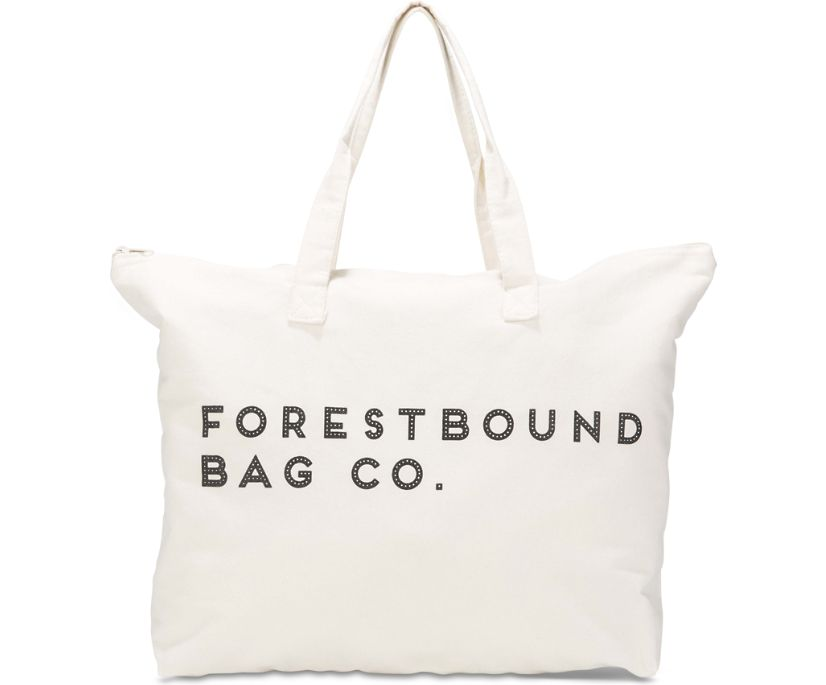 Forestbound Canvas Tote Bag, Cream, dynamic