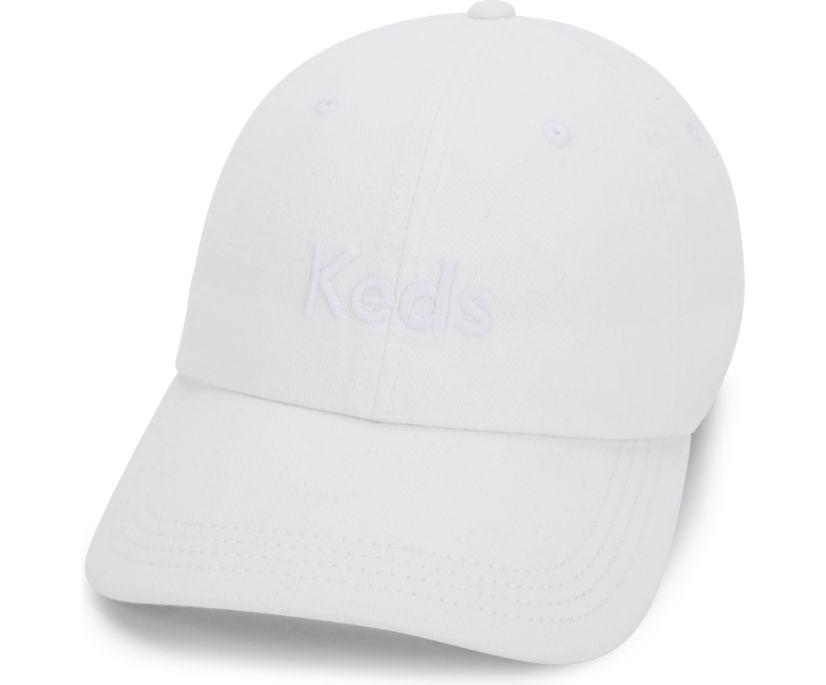 Soft Canvas Baseball Cap, White, dynamic
