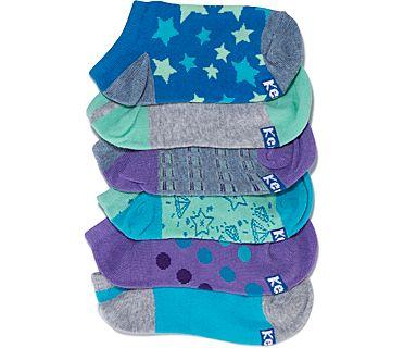 Kids Ankle Socks, Brilliant Blue Asst, dynamic