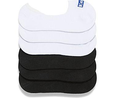 Kids 6 PK Sneaker Liners Socks, White Asst., dynamic