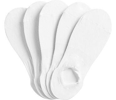 6 Pk High Cut Liner Socks, White, dynamic