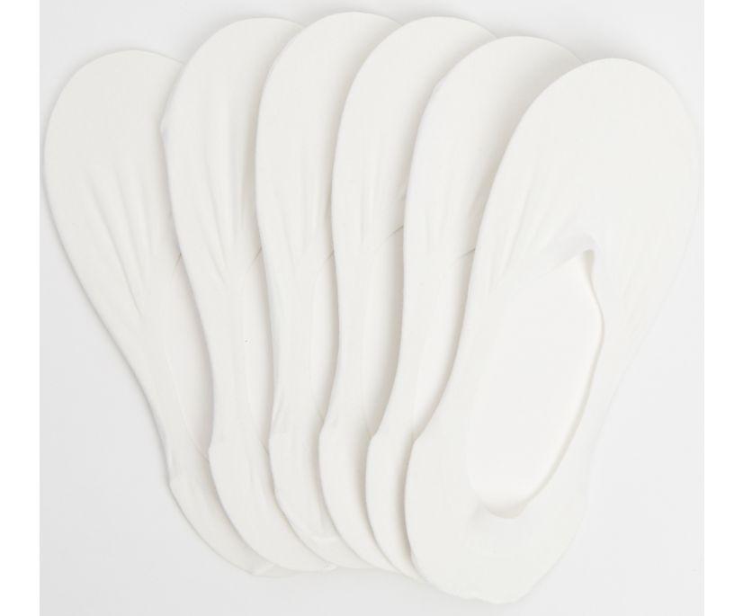 6PK Sneaker Liner, White, dynamic