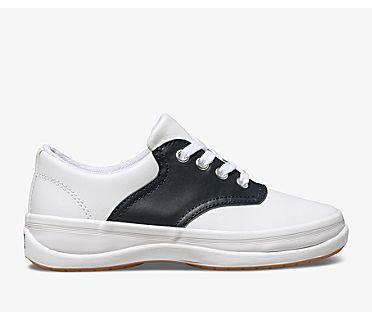 School Days Sneaker, White / Classic Navy, dynamic