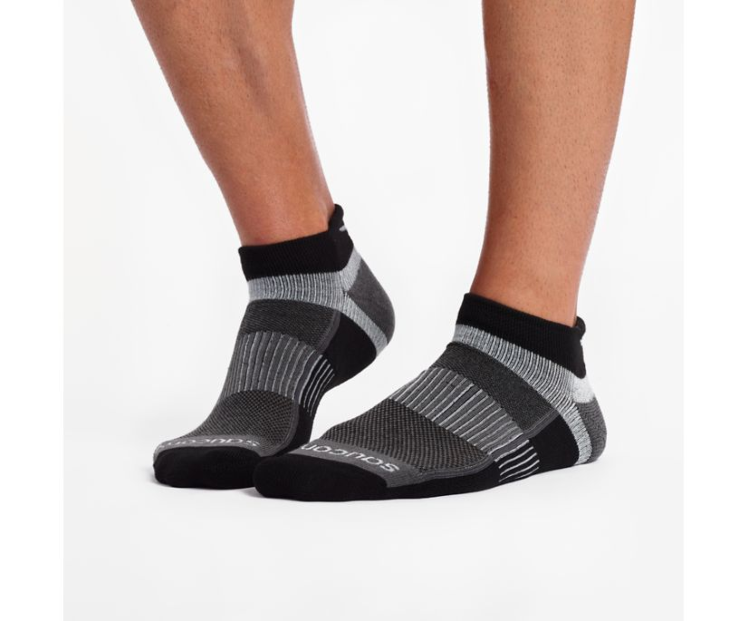 Inferno No Show Tab 3-Pack Socks, Black, dynamic
