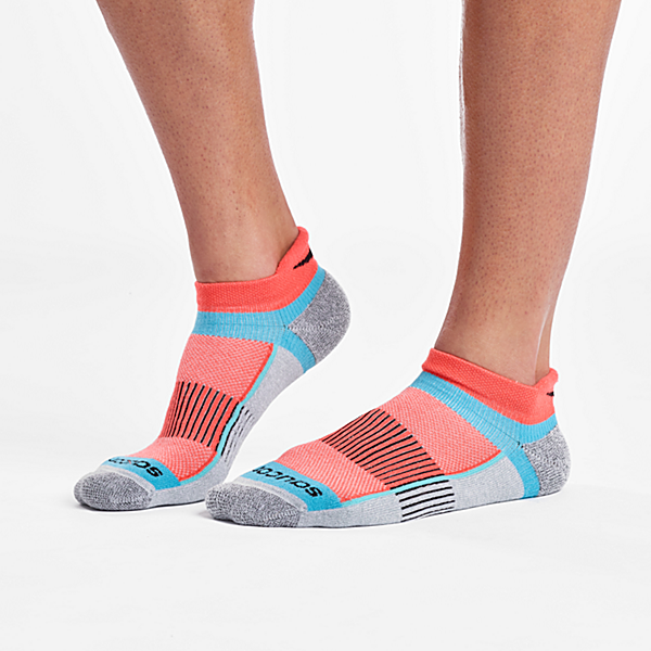 Inferno No Show Tab 3-Pack Socks, Grey Heather, dynamic