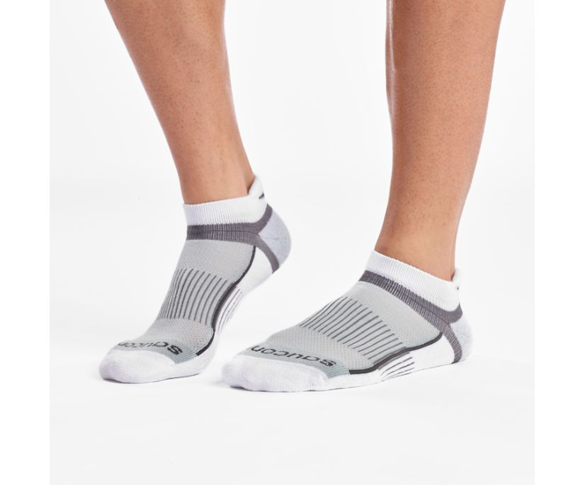 Inferno No Show Tab 3-Pack Socks, White, dynamic