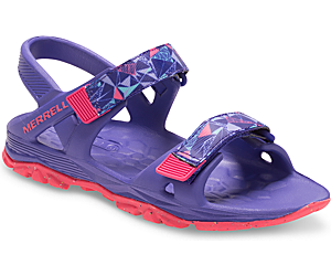 Hydro Drift Sandal, Periwinkle / Coral, dynamic