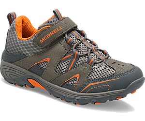 Trail Chaser Shoe, Gunsmoke / Orange, dynamic