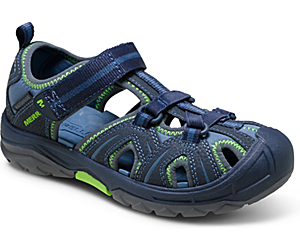 Hydro Sandal, Navy / Green, dynamic