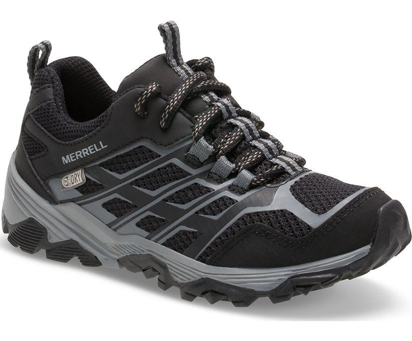 Moab Low Waterproof Sneaker, Black, dynamic