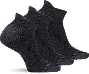 Repreve® Low Cut Tab Sock 3-Pack, Black, dynamic