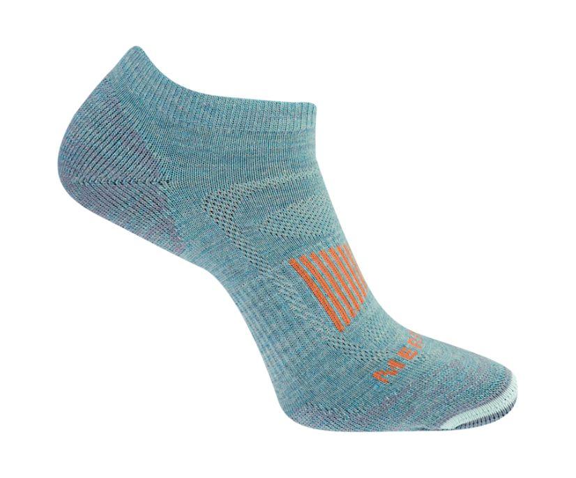 Cushioned Zoned Hiker Low Cut Sock, Aqua, dynamic