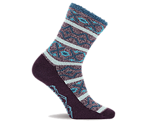 Cozy Crew Sock, Purple, dynamic