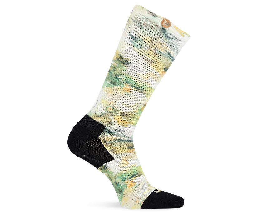 Artists Collection Printed Crew Sock, Gold, dynamic
