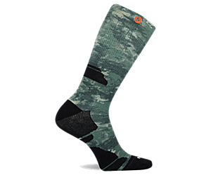 Camo Printed Crew Sock, Green, dynamic