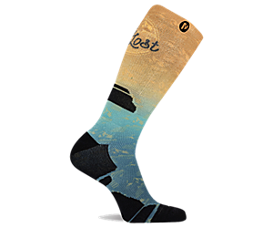 Get Lost Printed Crew Sock, Blue, dynamic