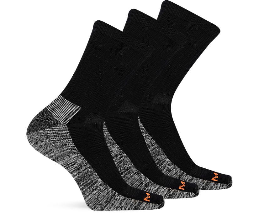Work Crew Sock 3-Pack, Black, dynamic