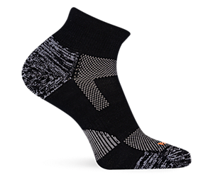 Lightweight Hiker Quarter Sock, Black/Grey, dynamic