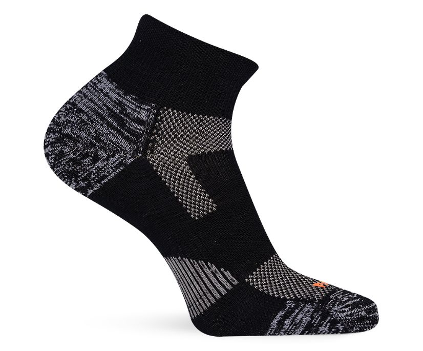 Lightweight Hiker Quarter Sock, Black/Grey, dynamic