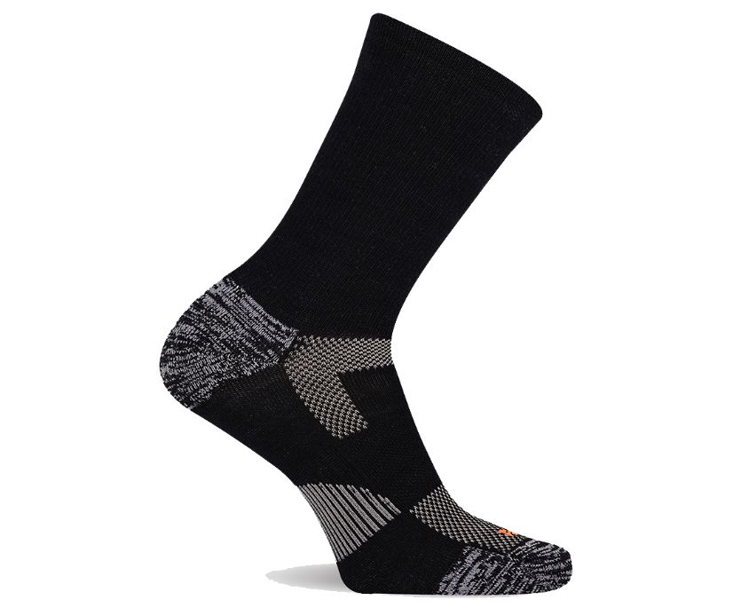 Lightweight Hiker Crew Sock, Black, dynamic