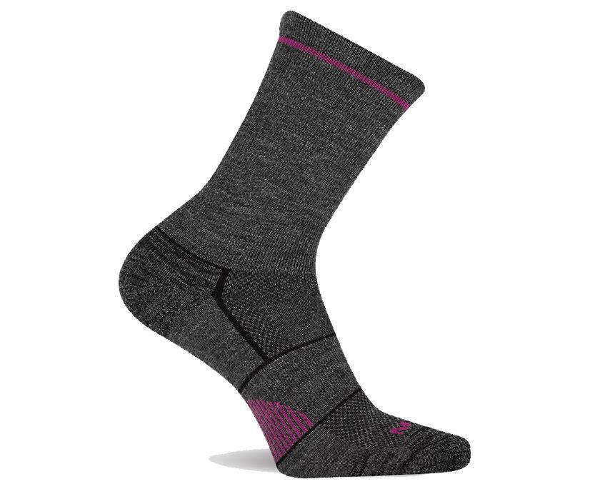 Lightweight Hiker Crew Sock, Grey, dynamic