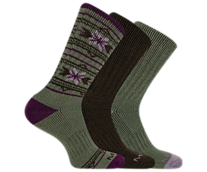 Thermal Crew Sock 3-Pack, Moss, dynamic