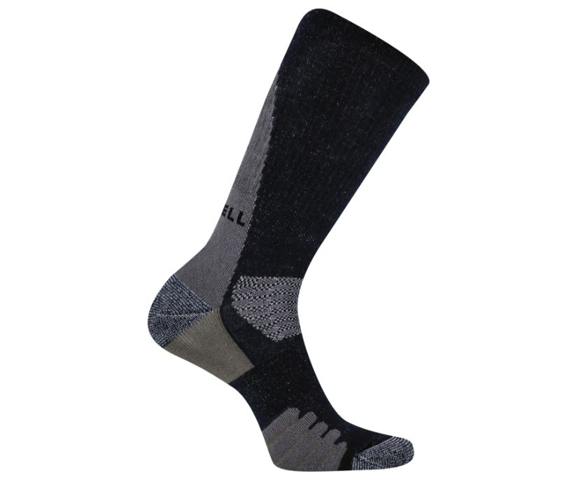 Warmth Without Weight Hike Crew Sock, Black, dynamic