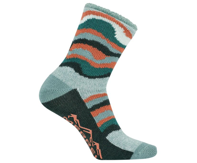 Cozy Crew Sock, Aqua, dynamic