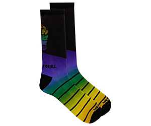 Outdoors For All Printed Outdoor Crew Sock, Blue, dynamic
