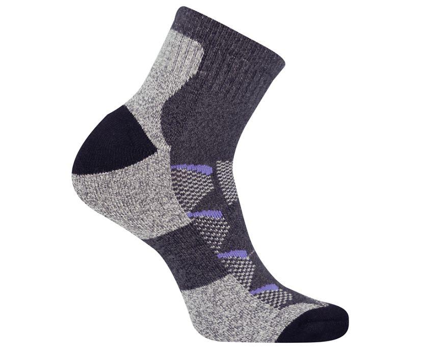Moab Anniversary Hiker Quarter Tab Sock, Black, dynamic