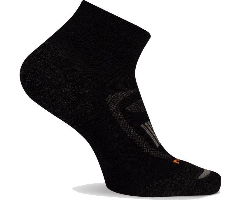 Zoned Hiker Quarter Cut Sock, Onyx, dynamic