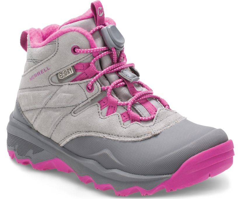 Thermoshiver Boot, Grey/Pink, dynamic
