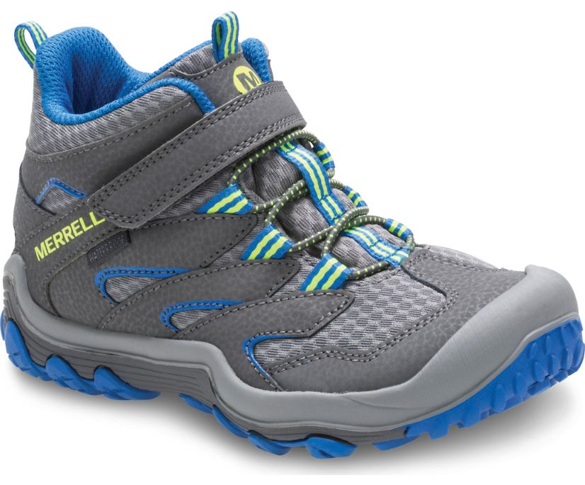 Chameleon 7 Access Mid A/C Waterproof Boot, Grey/Blue, dynamic