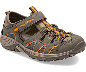 Hydro H2O Hiker Sandal, Gunsmoke/Orange, dynamic