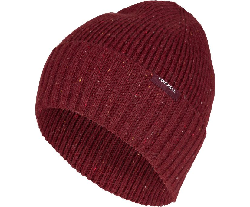 Trailhead Ribbed Beanie with Pocket, Fig, dynamic