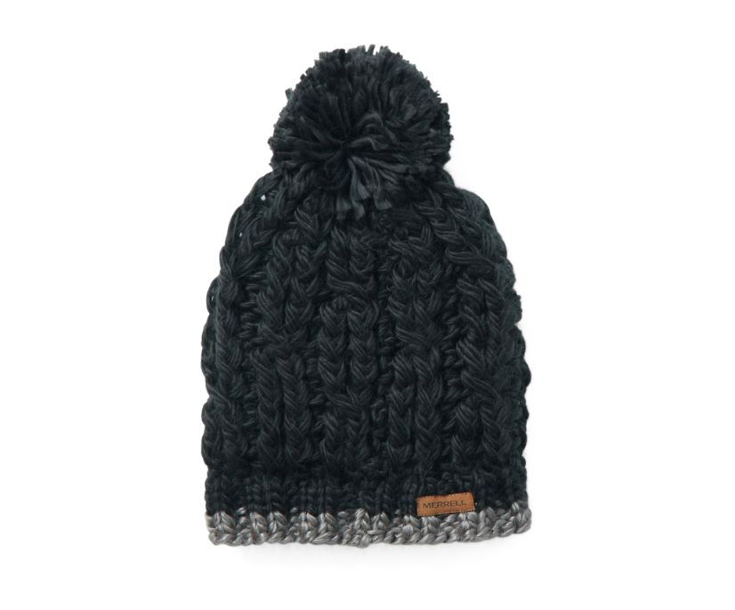 Trailhead Pom Beanie, Black, dynamic