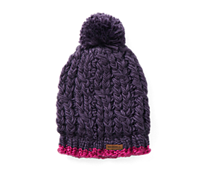 Trailhead Pom Beanie, Blackberry, dynamic