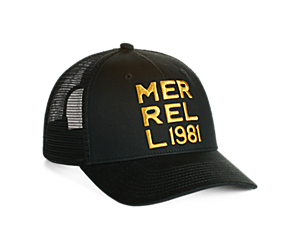 Monochromatic Trucker Hat, Black/Asphalt, dynamic