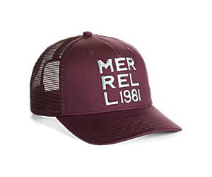 Monochromatic Trucker Hat, Burgundy, dynamic