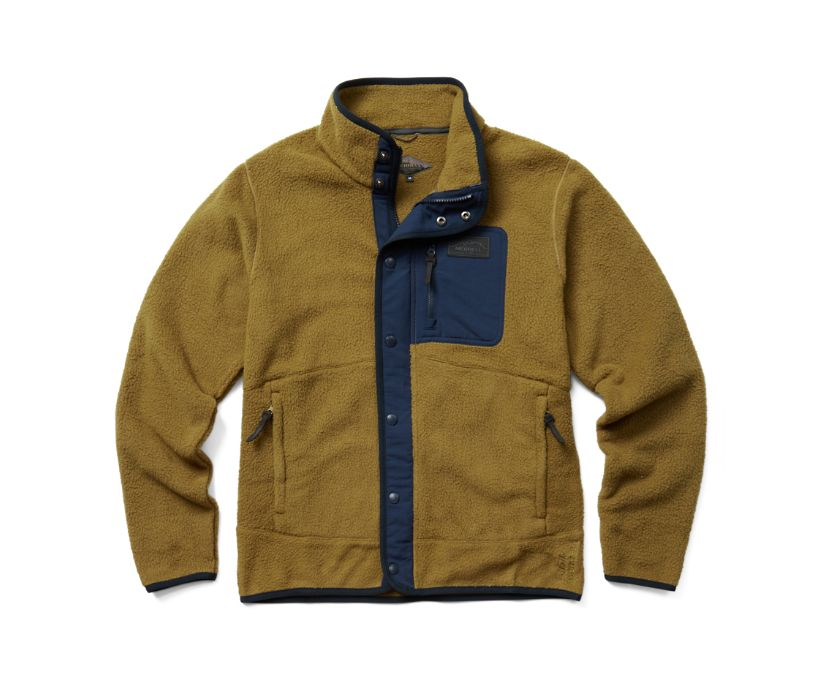Sherpa w/Snaps and Overlays Full Zip, Butternut, dynamic