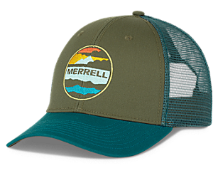 Trailhead Clouds Trucker Hat, Shaded Spruce, dynamic