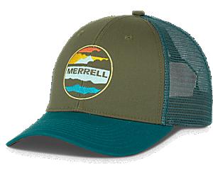 Trailhead Clouds Trucker Hat, Shaded Spruce, dynamic