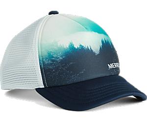 Trailhead Foam Trucker Hat, Print/Navy, dynamic
