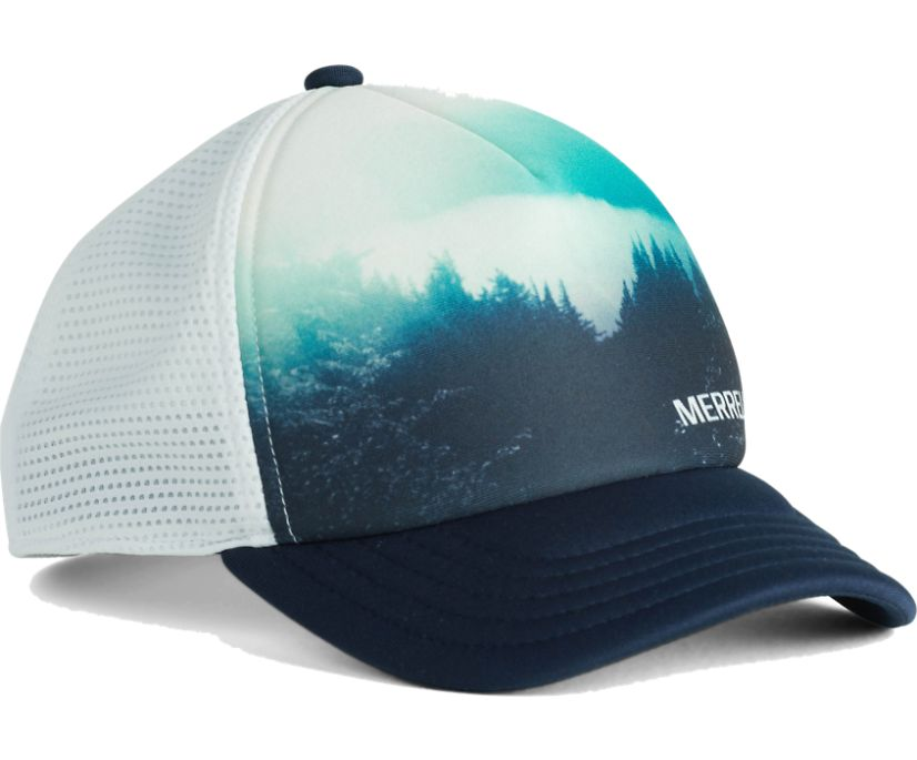 Trailhead Foam Trucker Hat, Print/Navy, dynamic